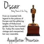 Oscar: Baby Name of the Day