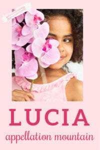 baby name Lucia