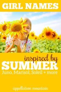 summer girl names