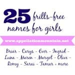 25 Frills-Free Names for Girls