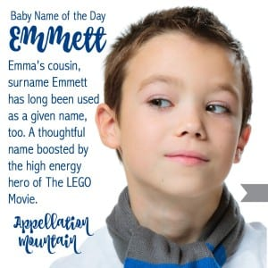 Emmett: Baby Name of the Day