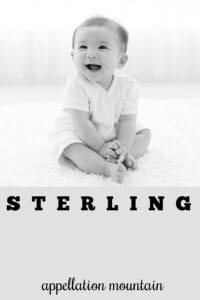 baby name Sterling