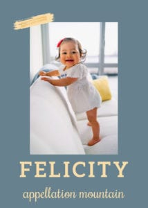 baby name Felicity