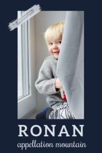 baby name Ronan