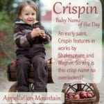 Crispin: Baby Name of the Day