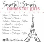Ooh La La: French Names for Girls