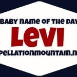 Levi: Baby Name of the Day