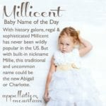 Millicent: Baby Name of the Day