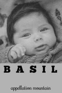 baby name Basil