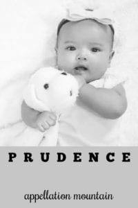 girl name Prudence