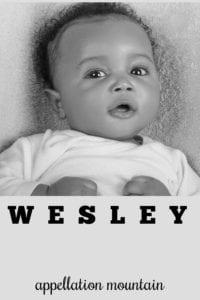boy name Wesley