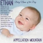 Ethan: Baby Name of the Day