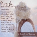 Natasha: Baby Name of the Day