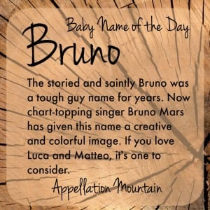 Bruno: Baby Name of the Day