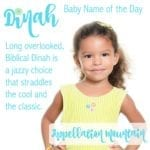 Dinah: Baby Name of the Day