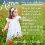 Agnes: Baby Name of the Day