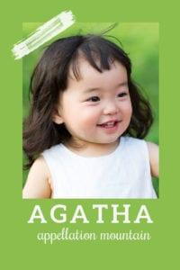 baby name Agatha