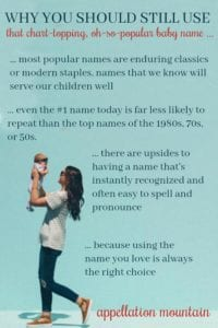 Reasons to Use Popular Baby Names