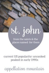 St. John: Baby Name of the Day