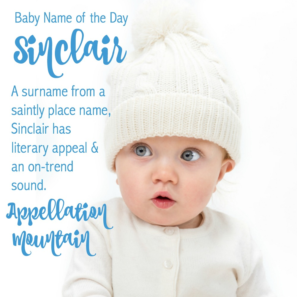 Sinclair: Baby Name of the Day