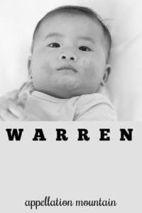 boy name Warren