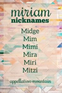 Miriam nicknames