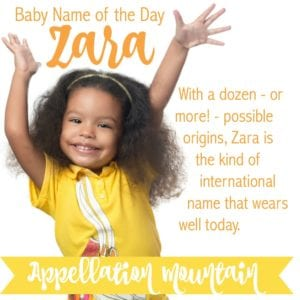 Zara: Baby Name of the Day