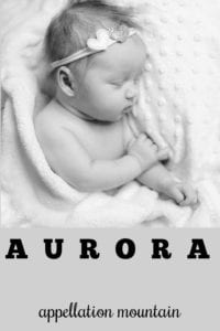 girl name Aurora