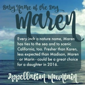 Maren: Baby Name of the Day
