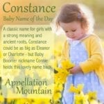 Constance: Baby Name of the Day