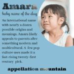 Amara: Baby Name of the Day
