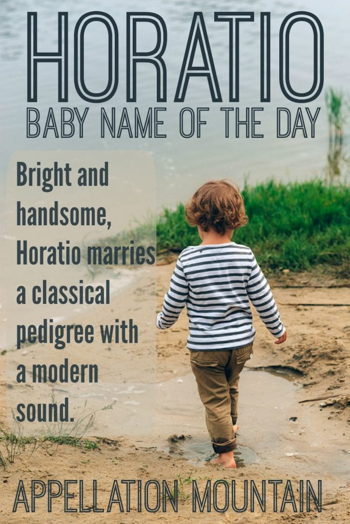 Horatio: Baby Name of the Day