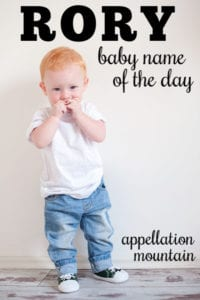 Rory: Baby Name of the Day