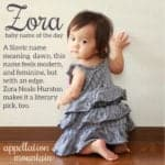 Zora: Baby Name of the Day