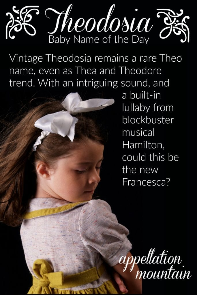 Theodosia: Baby Name of the Day