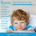 Byron: Baby Name of the Day