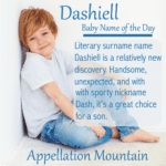 Dashiell: Baby Name of the Day