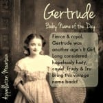 Gertrude: Baby Name of the Day