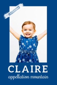 baby name Claire