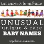 defense of unusual baby names