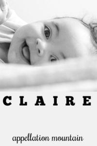 girl name Claire