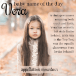 Vera: Baby Name of the Day