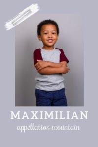 baby name Maximilian