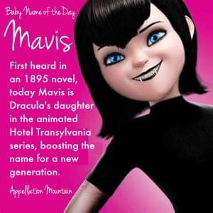 Mavis: Baby Name of the Day