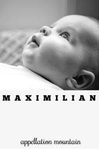 boy name Maximilian