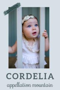 baby name Cordelia