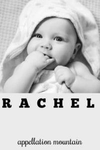 girl name Rachel