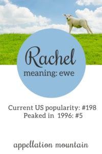 Rachel: Baby Name of the Day