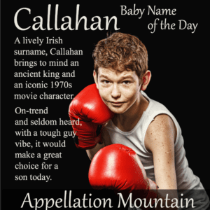 Callahan: Baby Name of the Day