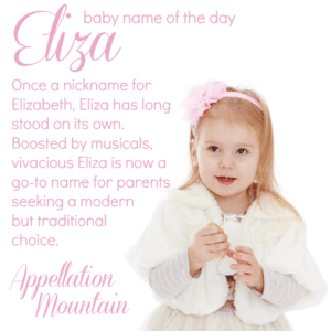 Eliza: Baby Name of the Day